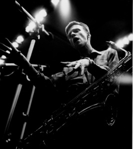 Gerry Mulligan at a recording session, Los Angeles, CA, 1953. © 1978 Bob Willoughby / MPTV - Image 7254_268