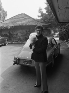 Eddie Fisher and his Porsche circa 1970s © 1978 Gunther - Image 7289_0033