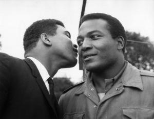 "Muhammad Ali visiting Jim Brown on the set of ""The Dirty Dozen""1966** J.C.C. - Image 7293_0010"