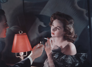 Susan Hayward posing for a Chesterfield cigarette advertisement, circa 1950. © 1978 Paul HesseMPTV - Image 741_100