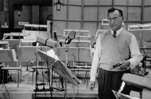 "Benny Goodman at ""The Benny Goodman Story"" recording session, Universal 1955. © 1978 Bob Willoughby / MPTV - Image 7427_102"