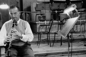 "Benny Goodman at ""The Benny Goodman Story"" recording session, Universal 1955. © 1978 Bob Willoughby / MPTV - Image 7427_103"