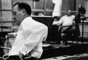"Benny Goodman at ""The Benny Goodman Story"" recording session, Universal 1955. © 1978 Bob Willoughby / MPTV - Image 7427_106"