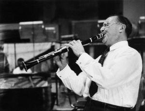 "Benny Goodman at ""The Benny Goodman Story"" recording session, Universal 1955. © 1978 Bob Willoughby / MPTV - Image 7427_201"