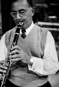 "Benny Goodman at ""The Benny Goodman Story"" recording session, Universal 1955. © 1978 Bob Willoughby / MPTV - Image 7427_202"