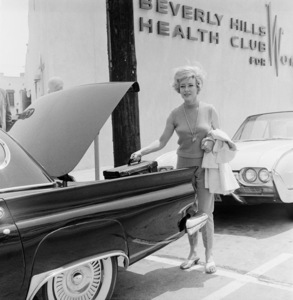Glynis Johns and her 1957 Ford Thunderbird circa 1961 © 1978 Eric Skipsey - Image 7466_0009