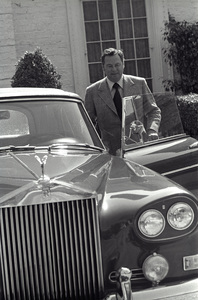 Barron Hilton with his Rolls Roycecirca 1978 © 1978 Gunther - Image 7485_0009