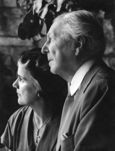 Architect Frank Lloyd Wright with wife Olgivanna Lloyd Wrightcirca 1950s - Image 7500_0012