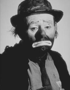 Emmett Kelly, circa 1958. © 1978 Glenn EmbreeMPTV  - Image 7510_0010