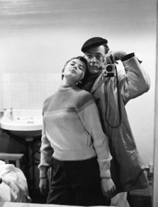 """Photographer Bob Willoughby and Jean Seberg during the making of """"Saint Joan""""1957 © 1978 Bob Willoughby - Image 7512_0015"""