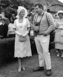 """Photographer Bob Willoughby and Petula Clark during the making of """"Goodbye, Mr. Chips""""1969 © 1978 Bob Willoughby - Image 7512_0018"""