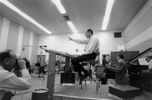 Henry Mancini during a recording session1964 © 1978 Sid Avery - Image 7516_0043