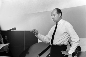 Henry Mancini during a recording session1964 © 1978 Sid Avery - Image 7516_0046