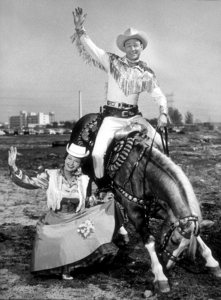 """""""The George Gobel Show""""Dale Evans and Roy Rogers, NBC circa 1956. © 1978 Gerald SmithMPTV  - Image 7521_0026"""