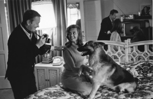 Mel Torme and wife Janette Scott at home, c. 1965. © 1978 Gunther - Image 7551_0028