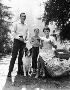 """Lassie""Hugh Reilly, Lassie, Jon Provost, June Lockhart 1958Photo by Gabi Rona - Image 7553_0059"