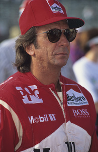 Emerson Fittipaldi in the pits at the Long Beach Grand Prix in Long Beach, CA1992 © 1992 Ron Avery - Image 7568_0013