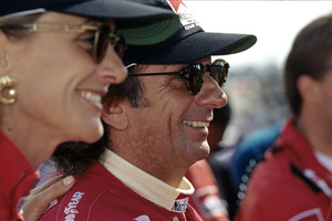 Emerson Fittipaldi at the Laguna Seca Raceway with his wife for the Toytota Monterey Grand Prix1992 © 1992 Ron Avery - Image 7568_0031