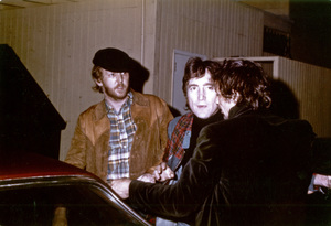 John Lennon with Harry Nilsson outside the Troubadour in Los Angeles1974© 1978 Gary Lewis - Image 7648_0041