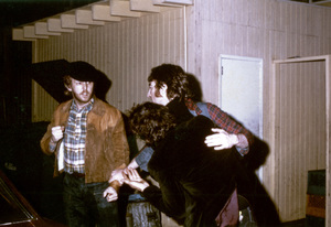 John Lennon with Harry Nilsson outside the Troubadour in Los Angeles1974© 1978 Gary Lewis - Image 7648_0042