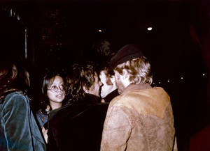John Lennon with May Pang and Harry Nilsson outside the Troubadour in Los Angeles1974© 1978 Gary Lewis - Image 7648_0043