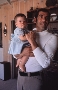 Roger Vadim and his daughterVanessa, 8 months, circa 1969Photo by: Bob Willoughby / MPTV - Image 7664_0001