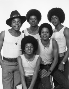 The JacksonsTop Row (L-R) Tito, Jackie, JermaineBottom Row (L-R) Michael, Marlon1972 © 1978 Eric A. Skipsey - Image 7670_0011