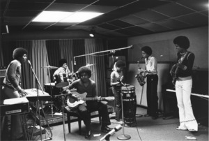 The JacksonsJackie, Michael, Tito, Randy, Marlon, Jermaineduring a rehearsal session.1972 © 1978 Gunther - Image 7670_0022