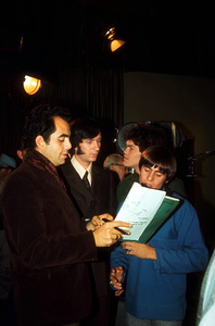"""""""Monkees The""""Micky Dolenz, Mike Nesmith and David Jonesbehind the scenes1967 NBC © 1978 David SuttonMPTV - Image 7671_0047"""