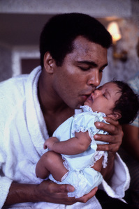 Muhammad Ali with his daughter, c. 1974. © 1978 Gunther - Image 7683_0103