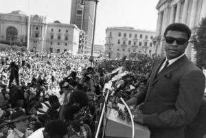 Muhammad Ali at a peace rally1968© 1978 Gunther - Image 7683_0155