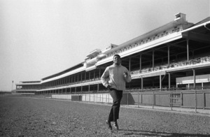 Cassius Clay doing road work at famed Churchill Downs, home of the Kentucky Derby1963© 1978 Gunther - Image 7683_0452