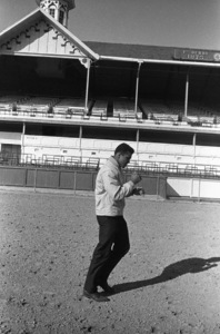 Cassius Clay doing road work at famed Churchill Downs, home of the Kentucky Derby1963© 1978 Gunther - Image 7683_0455