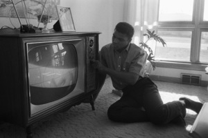 Cassius Clay in the living room of his Louisville, Kentucky home1963© 1978 Gunther - Image 7683_0457