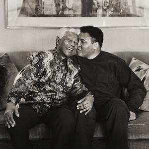 Nelson Mandela and Muhammad Ali November 2000 © 2000 Dana Gluckstein