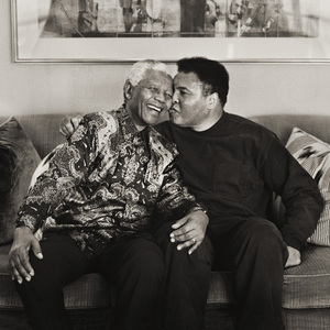Nelson Mandela and Muhammad AliNovember 2000© 2000 Dana Gluckstein - Image 7683_0461