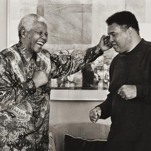 Nelson Mandela and Muhammad AliNovember 2000© 2000 Dana Gluckstein - Image 7683_0462