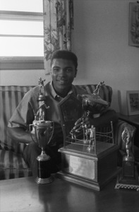 Cassius Clay at his Louisville, Kentucky home 1963© 1978 Gunther - Image 7683_0463