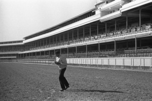 Cassius Clay doing road work at famed Churchill Downs, home of the Kentucky Derby  1963 © 1978 Gunther