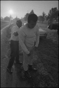"Muhammad Ali and his ""bodyman,"" masseur Luis Serria1974© 1978 Peter Angelo Simon - Image 7683_0496"