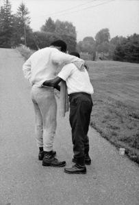 "Muhammad Ali and his ""bodyman,"" masseur Luis Serria1974© 1978 Peter Angelo Simon - Image 7683_0568"