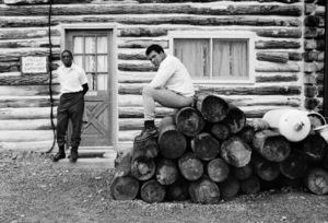 "Muhammad Ali and his ""bodyman,"" masseur Luis Serria1974© 1978 Peter Angelo Simon - Image 7683_0571"