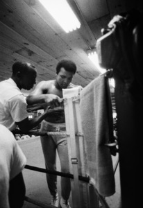 "Muhammad Ali and his ""bodyman,"" masseur Luis Serria1974© 1978 Peter Angelo Simon - Image 7683_0604"