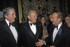 Gerald Ford with Gregory Peck and Jack Carter1978 © 1978 Gunther - Image 7684_0014