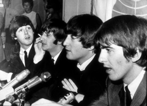 The Beatles ( Paul McCartney, Ringo Starr, John Lennon, George Harrison) at a press conference1966 © 1978 by Bud Gray / MPTV - Image 7685_0003