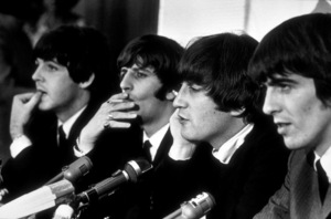 The Beatles in a press conference in Los Angeles, CA 1966 © 1978 Bud Gray / MPTV - Image 7685_0010