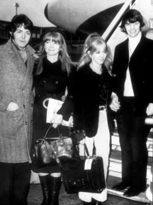The Beatles Paul McCartney with girlfriend Jane Asher and Ringo Starr with wife Maureen, 1968MPTV - Image 7685_0016