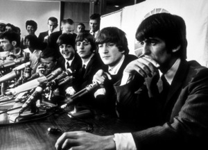 The Beatles at a press conference in Los Angeles, CA, 1966 © 1978 Bud Gray / MPTV - Image 7685_0026