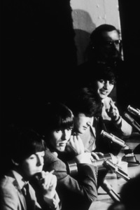 The Beatles (Paul McCartney, George Harrison,John Lennon, & Ringo Starr) at a press conference,c. 1964 © 1978 Gunther / MPTV  - Image 7685_0111