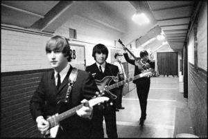 The Beatles (John Lennon, George Harrison, Paul McCartney) backstage 1964 © 1978 Gunther - Image 7685_0128